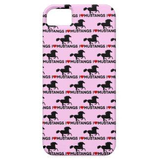 Amo los mustangos - caso del iPhone - rosa iPhone 5 Carcasa