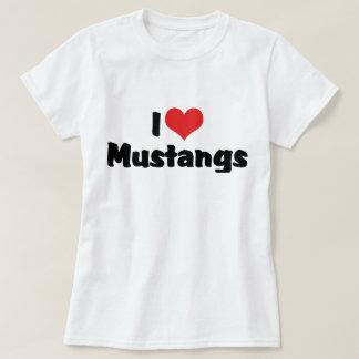 Amo los mustangos del corazón - amante del caballo playera