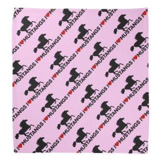 Amo los mustangos - pañuelo - rosa bandana