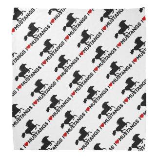 Amo los mustangos - pañuelo bandana