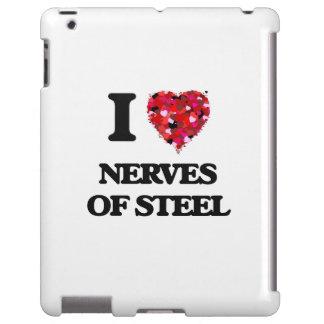 Amo los nervios del acero funda para iPad