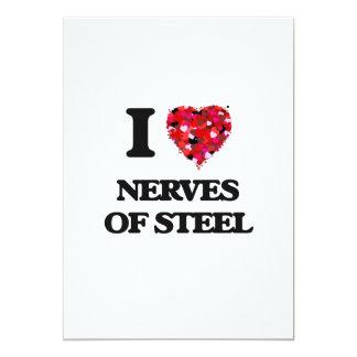 """Amo los nervios del acero invitación 5"""" x 7"""""""