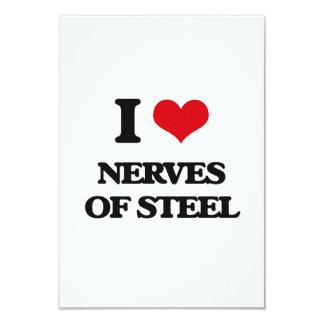 """Amo los nervios del acero invitación 3.5"""" x 5"""""""