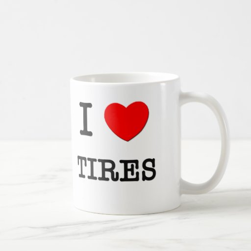Amo los neumáticos tazas de café