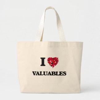 Amo los objetos de valor bolsa tela grande