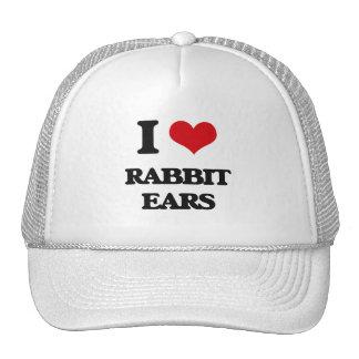 Amo los oídos de conejo gorras