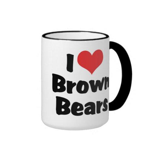 Amo los osos de Brown Tazas
