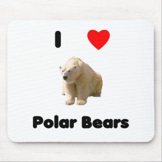Amo los osos polares Mousepad Alfombrillas De Raton
