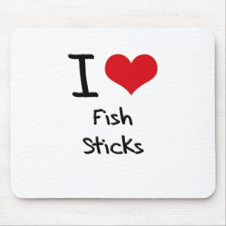Amo los palillos de pescados alfombrilla de ratón