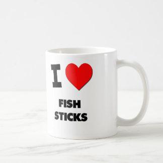 Amo los palillos de pescados taza de café