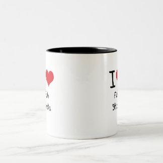 Amo los palillos de pescados tazas de café