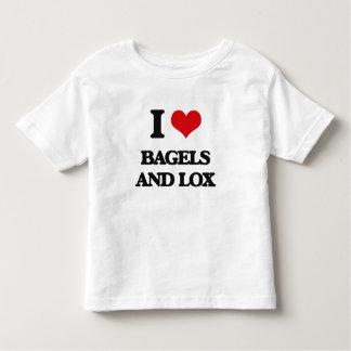Amo los panecillos y el Lox Playeras