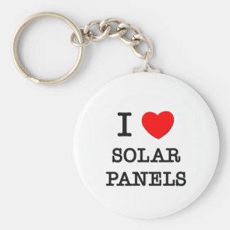 Amo los paneles solares llavero redondo tipo pin