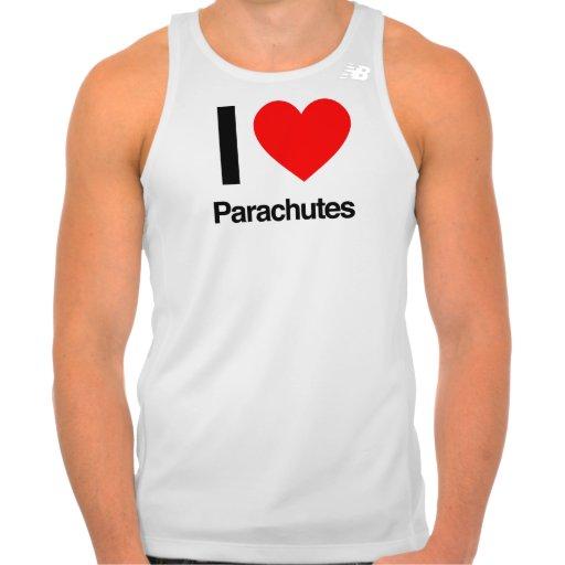 amo los paracaídas camisetas