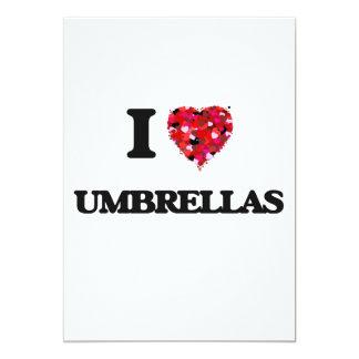 """Amo los paraguas invitación 5"""" x 7"""""""