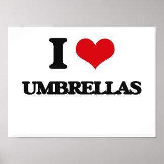 Amo los paraguas póster