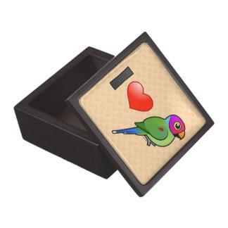 Amo los Parakeets Ciruelo-dirigidos (el varón) Caja De Joyas De Calidad