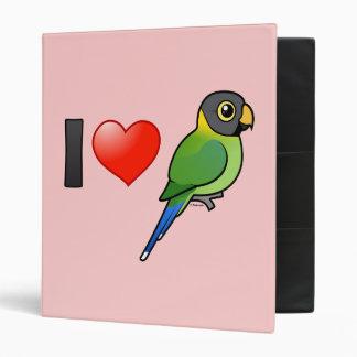 """Amo los Parakeets Ciruelo-dirigidos (femeninos) Carpeta 1"""""""