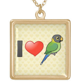Amo los Parakeets Ciruelo-dirigidos femeninos Pendientes