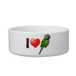 Amo los Parakeets de Derbyan Comedero Para Mascota