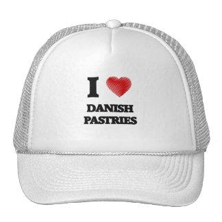 Amo los pasteles daneses gorro de camionero