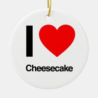 amo los pasteles de queso adorno de navidad