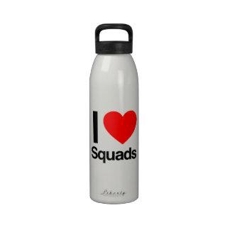 amo los pelotones botellas de agua reutilizables