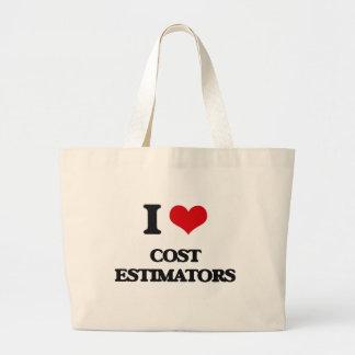 Amo los peritos del coste bolsas de mano