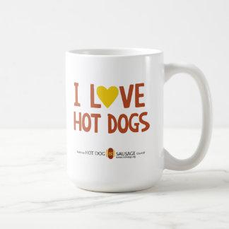 Amo los perritos calientes 4 taza clásica