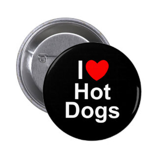 Amo los perritos calientes (del corazón) pin redondo 5 cm