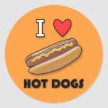 Amo los perritos calientes etiqueta