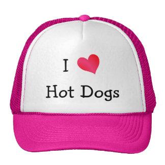 Amo los perritos calientes gorros