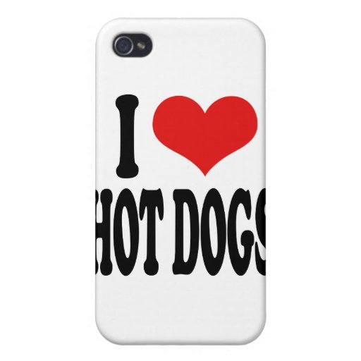 Amo los perritos calientes iPhone 4 funda