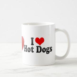 Amo los perritos calientes taza