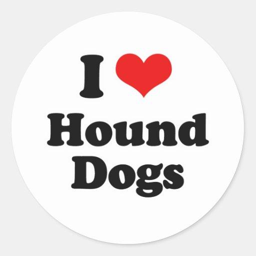 Amo los perros de caza pegatina redonda