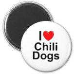 Amo los perros de chile (del corazón) iman para frigorífico