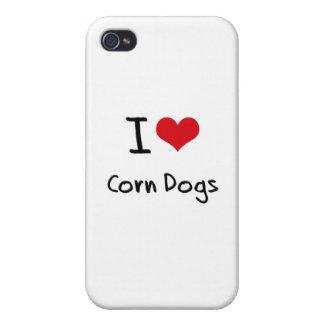Amo los perros de maíz iPhone 4 carcasas