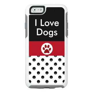 Amo los perros elegantes funda otterbox para iPhone 6/6s