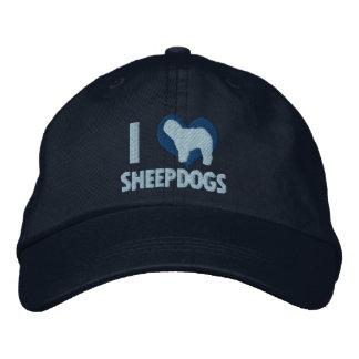 Amo los perros pastor azules gorra bordada