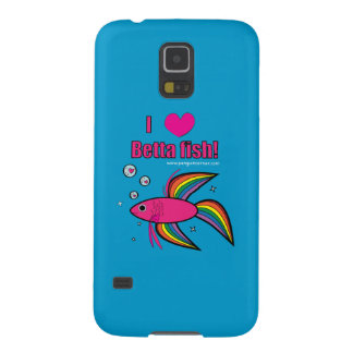 Amo los pescados de Betta Carcasas De Galaxy S5