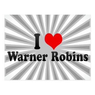 Amo los petirrojos de Warner, Estados Unidos Tarjeta Postal