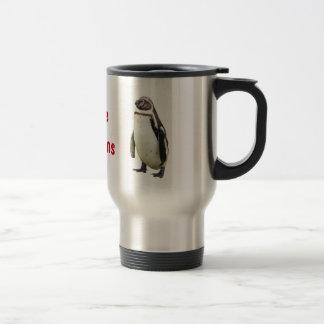 Amo los pingüinos - taza del viaje