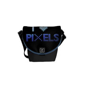 Amo los pixeles bolsas de mensajeria