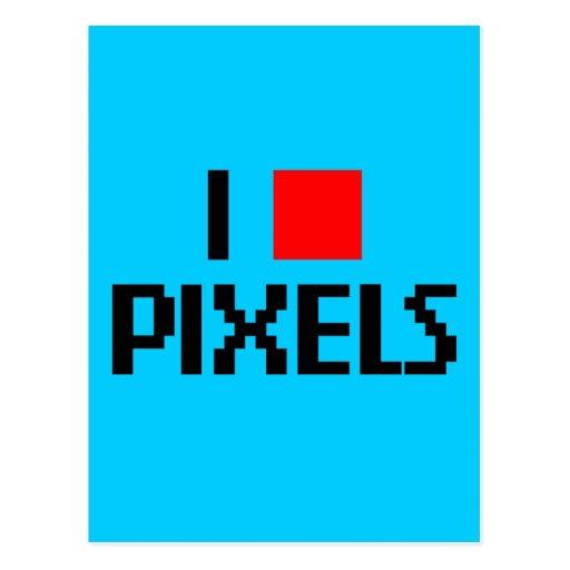 Amo los pixeles oscuros tarjetas postales