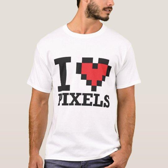 Amo los pixeles playera