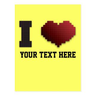 ¿Amo los pixeles?!? Postal