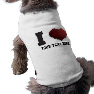 ¿Amo los pixeles?!? Camisetas De Mascota