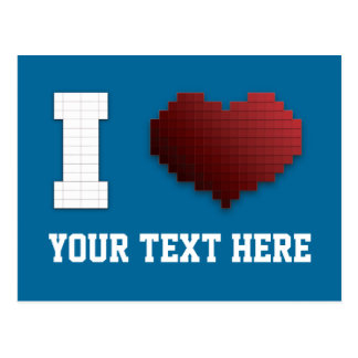 ¿Amo los pixeles?!? Tarjetas Postales