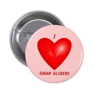 Amo los planeadores del azúcar pin redondo de 2 pulgadas
