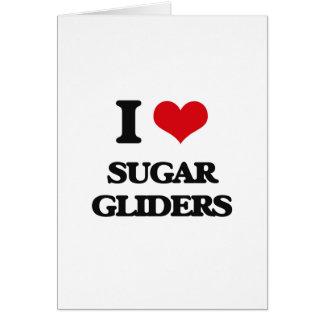 Amo los planeadores del azúcar felicitación